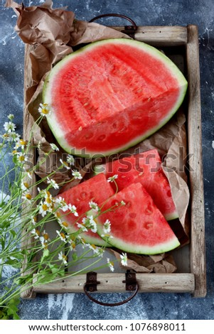 Slices of watermelons