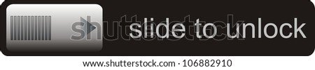 slide to unlock smartphone unlocker illustration black color