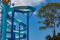 Slider and pool at waterpark