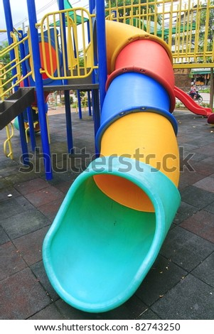 slider tube in playground