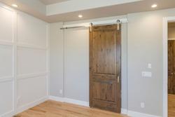 Sliding Barn Door in Master Bedroom