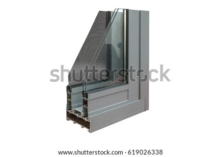 sliding door corner sample with stainless steel mesh screen #619026338