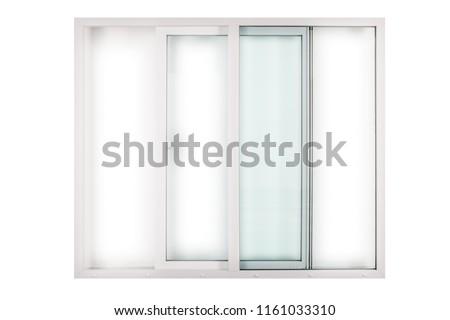 sliding white window door on white background #1161033310