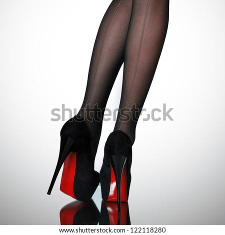 Slim female legs