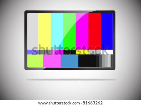 slim tv color bar isolated