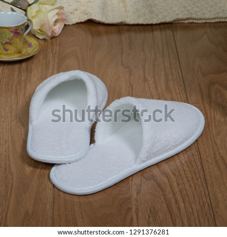 Slippers! Soft and comfortable, so comfortable! Style, homely warmth and tenderness! The interior and decor are nice! #1291376281