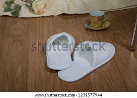 Slippers soft and warm! Feet warm, protection and comfort. Interior, white color. #1291577944