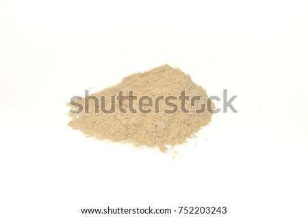 Slippery Elm, powder, white background