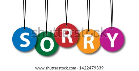 Slogan oops, I'm so sorry human Sorry, page not found 404 error Offline Online Unplugged Unplug  404 error Connection icon icons sign signs Vector fun funny Website under construction Page not found Photo stock ©