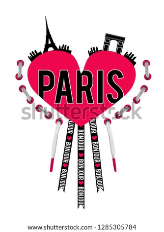 slogan paris for t shirt
