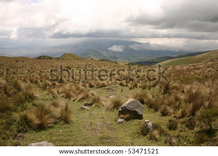 Slopes of the Pichincha in Ecuador in the Andes above the capital, Quito