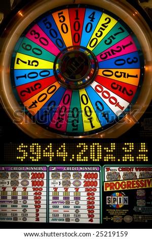 Slot machine close-up in Las-Vegas
