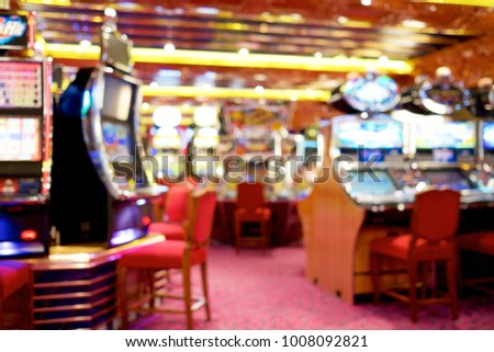 slot machine gambler empty player in casino blur background with idea concept