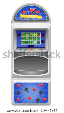 slot machine illustration isolated on white background