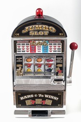slot machine isolated, casino object 777 big win