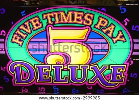 slot machine sign in a casino