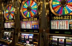 Slot machines close-up in Las-Vegas
