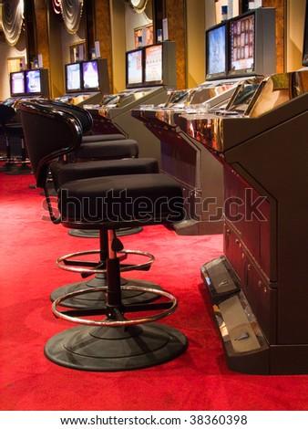 Slot machines in a casino (casino series)