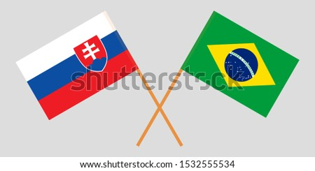 Slovakia and Brazil. The Slovakian and Brazilian flags