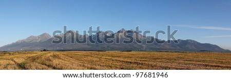 Slovakia beauty, panorama of High Tatras mountain - stock photo