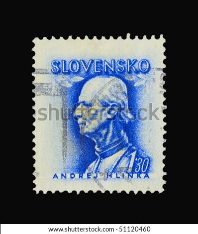 SLOVAKIA - CIRCA 1943: A stamp printed in Slovakia showing Andrej Hlinka circa 1943