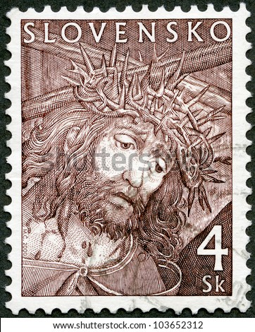 SLOVAKIA - CIRCA 2000: A stamp printed in Slovakia shows Easter, circa 2000