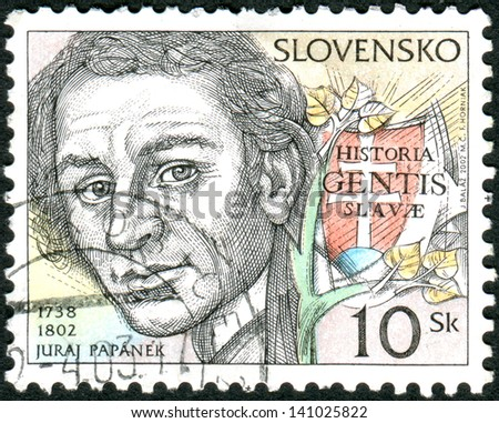 SLOVAKIA - CIRCA 2002: Postage stamp printed in Slovakia shows Juraj Papanek, priest and historian, circa 2002