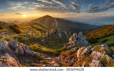 Slovakia mountain from peak Chleb #383694628