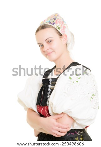 slovakian folk costume #250498606