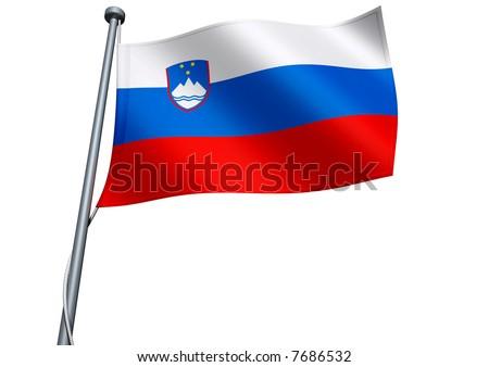 Eurovisión 2011 - Página 3 Stock-photo-slovenia-flag-7686532