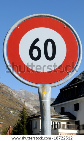 Slow down to 60 km / h