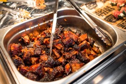 Slow smoked brisket burnt ends