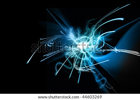 SLOW SPEED LIGHT PAINTING BACKGROUND #44603269
