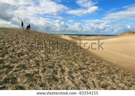 Slowinski National Park, moving dune, Poland