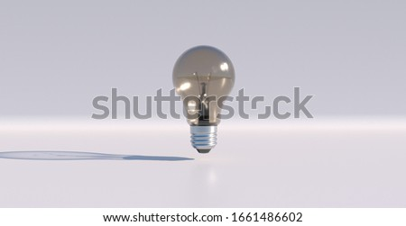 Slowly rotating incandescent light bulb created in 3D, 3D illustration. Background used for presentation on energy and climate change