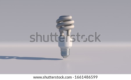 Slowly rotating LED light bulb created in 3D, 3D illustration. Background used for presentation on energy, climate change and new technologies