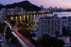 Slowshutter photo of Rio de Janeiro in the late afternoon