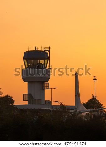 Small Air Traffic Control Tower as a Symbol for Holiday Feeling