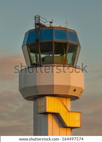 Small Air Traffic Control Tower as a Synbol for Holiday Feeling