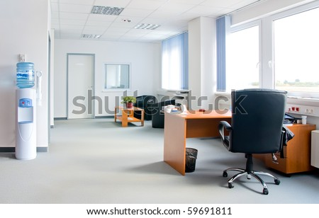small and simple office interior