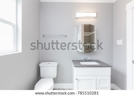 Small bathroom in grey
