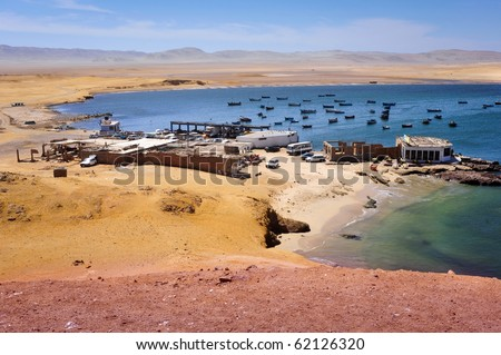 Small bay in Peru, Paracas National Reserve and the Islas Ballestas
