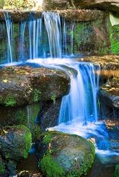 small beautiful waterfall