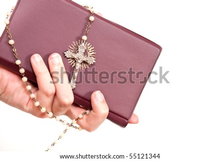 Small Bible with Rosary