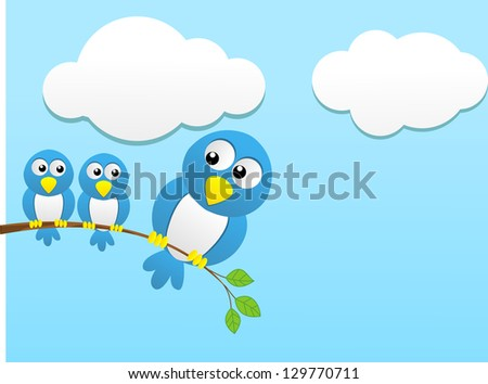 Small bird with over weight bird - stock photo