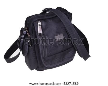 Small Black Bag. Isolated object on a white background
