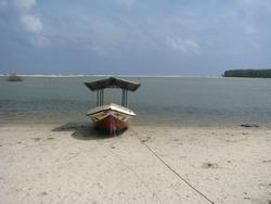 Small Boat Parked At Nilweli Beach Srilanka