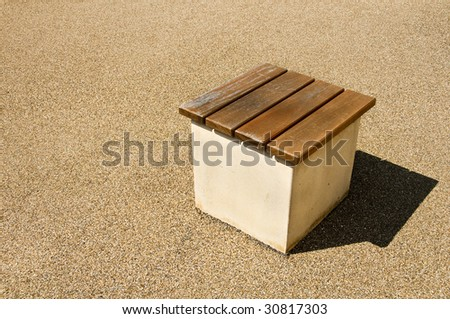 Small box seat on its own with shadow