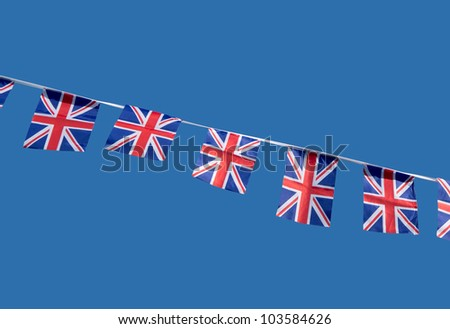 Small British Union Jack celebration flags.