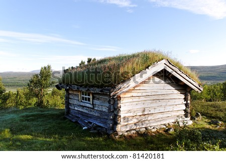 Small building in Norway mountain.